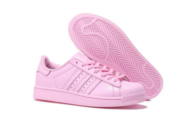 adidas superstar supercolor by Pharrell Williams light pink