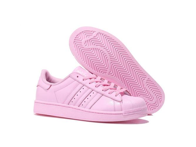 adidas superstar supercolor by Pharrell Williams light pink