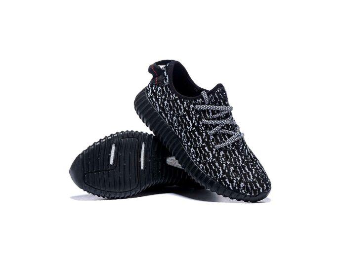 adidas yeezy boost 350 black white купить