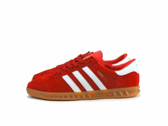 adidas hamburg red white g64039 купить