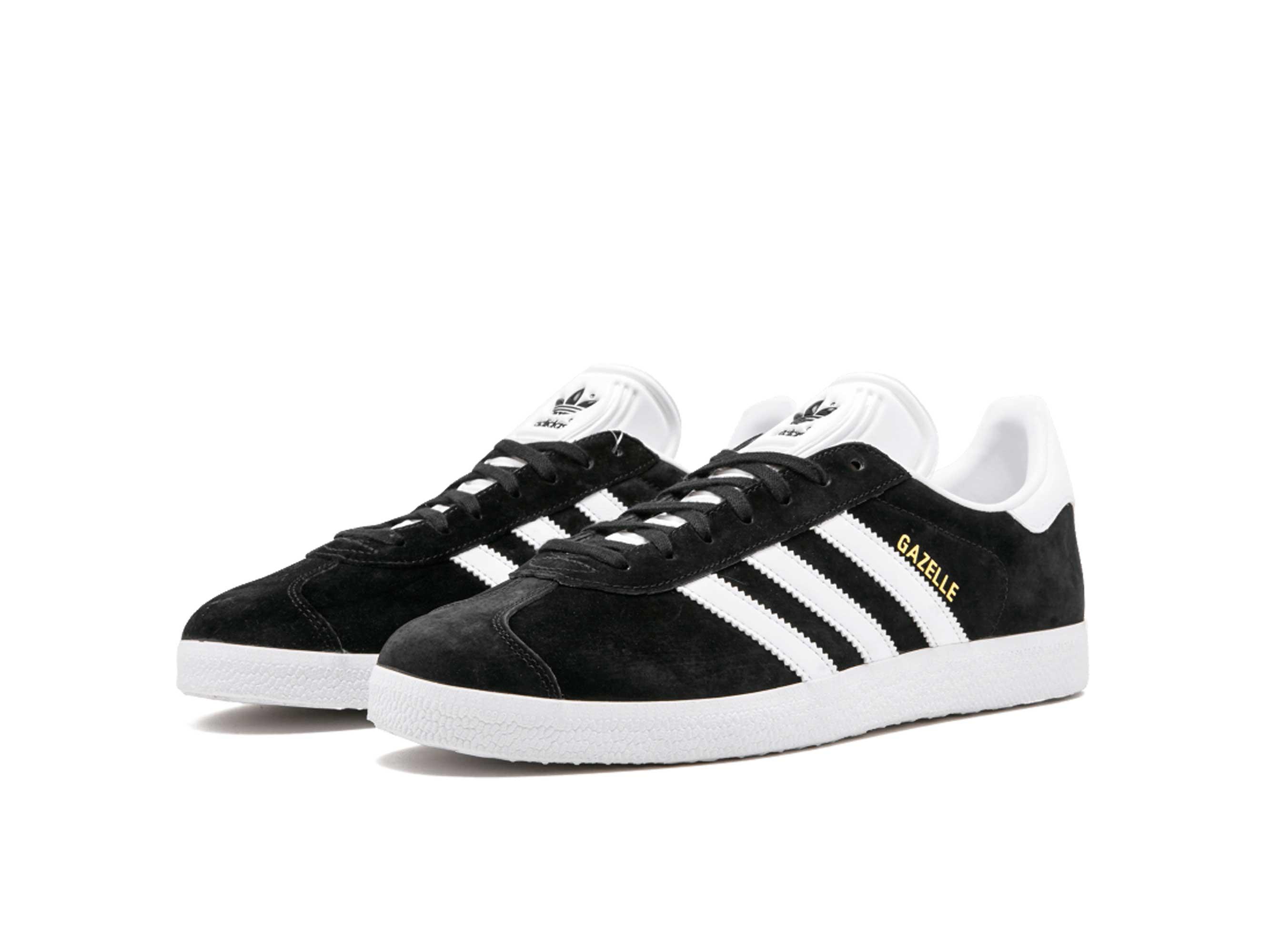 adidas gazelle black white