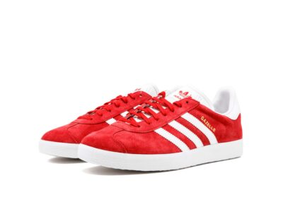 adidas gazelle red white s76228 купить