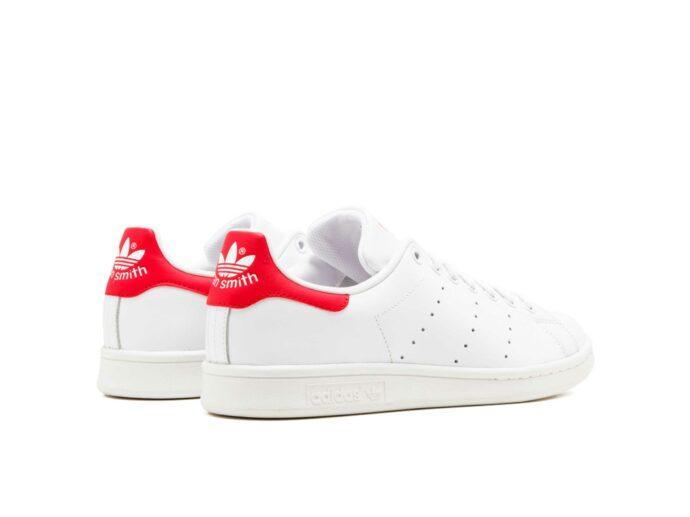 adidas stan smith leather white red m20326 купить