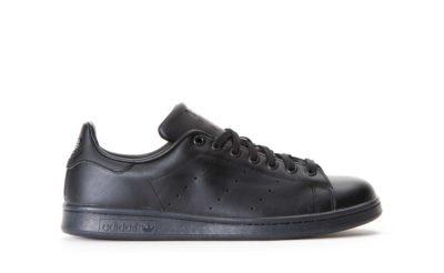 adidas stan smith leather black купить