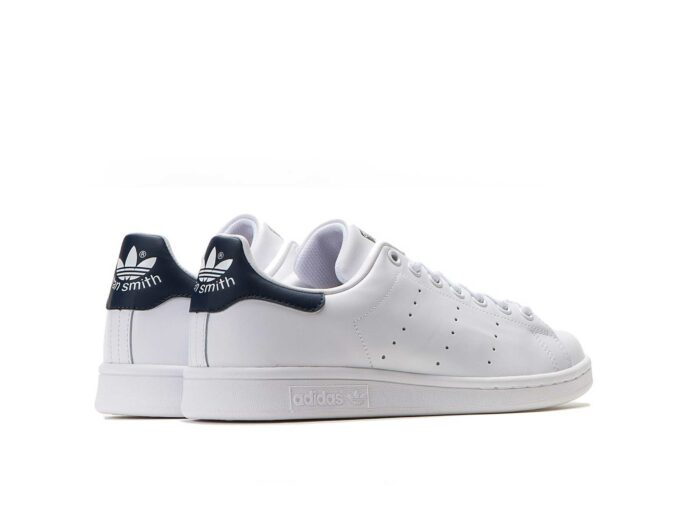 adidas stan smith leather white dark blue купить