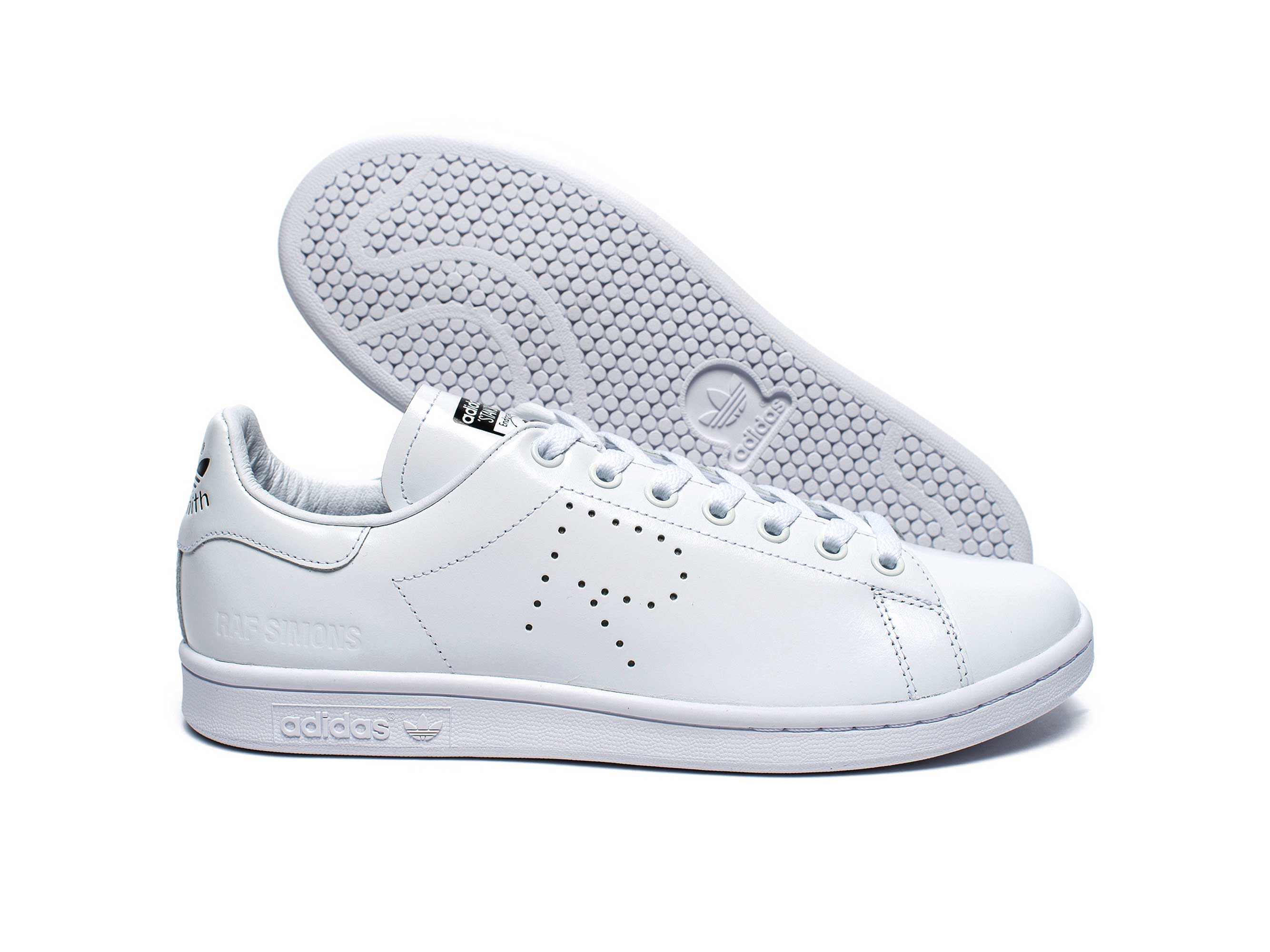 newest 4a42f a5495 adidas stan smith x raf simons white