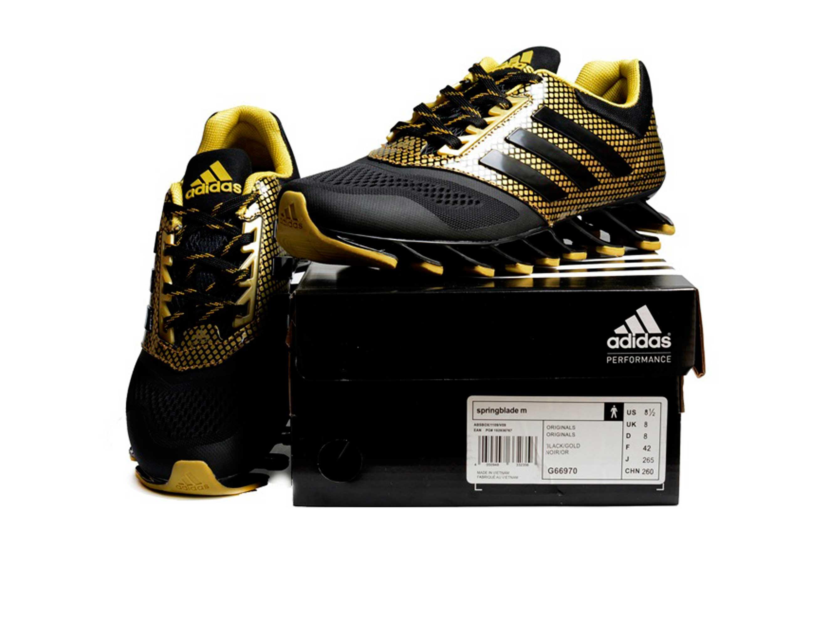 half off 5bc7b c347d adidas springblade black and gold