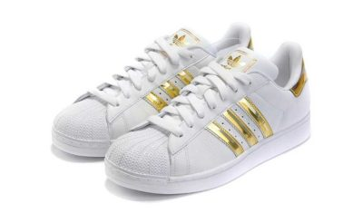 adidas superstar white gold купить