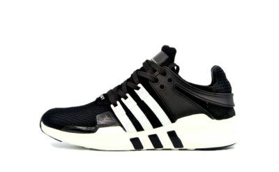 adidas EQT running support 93 primeknit black white 81490 купить