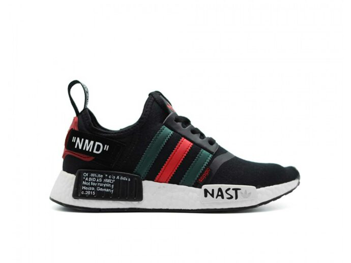 adidas nmd runner r1 off white nast black купить