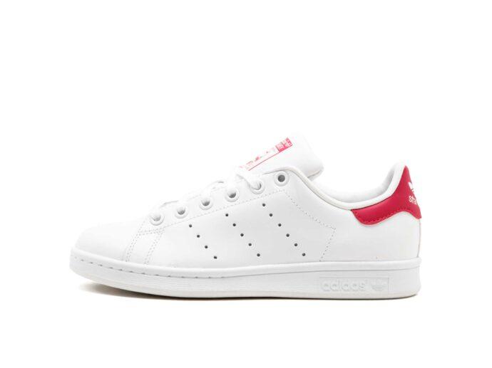 adidas stan smith leather white pink b32703 купить