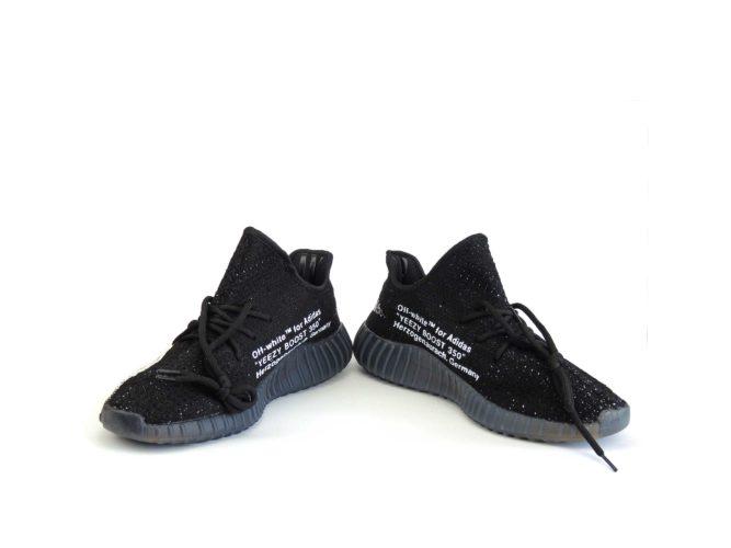 off white x adidas yeezy boost 350 v2 black купить
