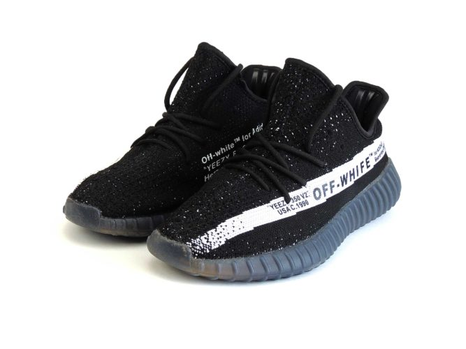 off white x adidas yeezy boost 350 v2 black купить
