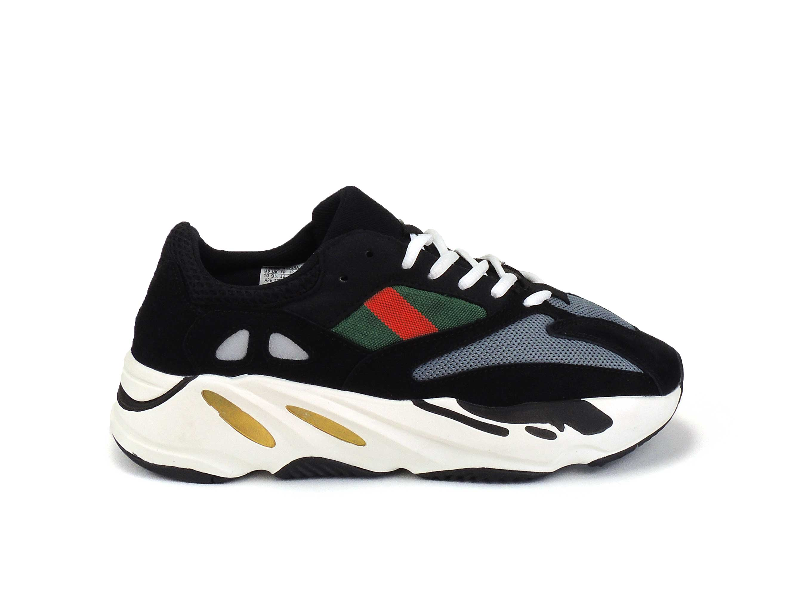 watch 5b9a5 a4890 adidas yeezy 700 boost wave runner black white