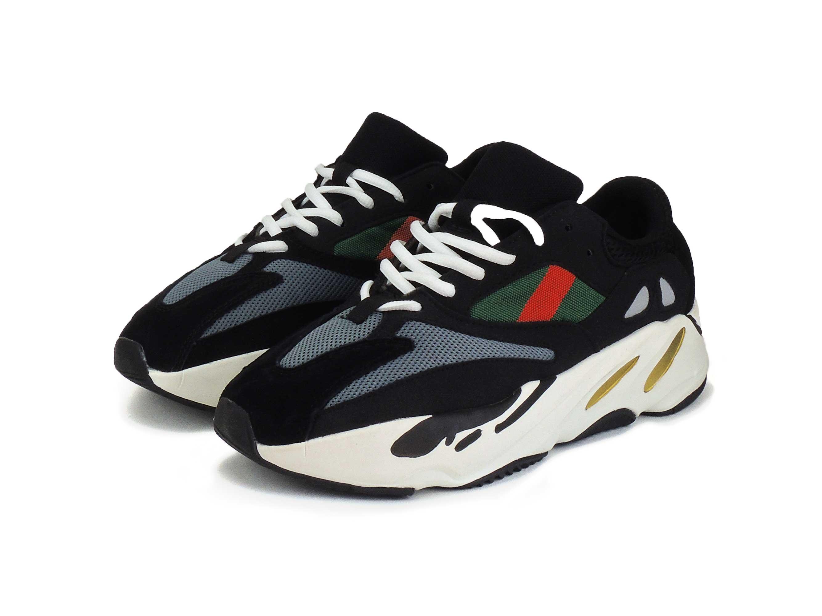 watch 7d938 b04e4 adidas yeezy 700 boost wave runner black white