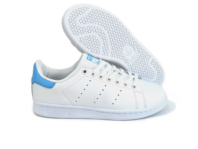 adidas stan smith white blue s74778 купить