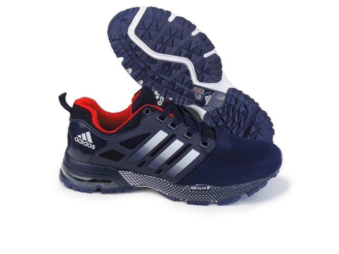 adidas marathon flyknit blue купить