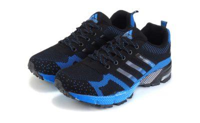 adidas marathon flyknit blue black купить