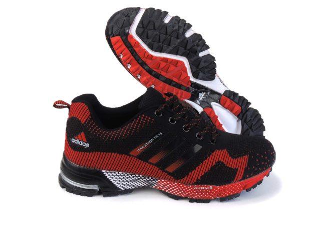 adidas marathon flyknit red купить