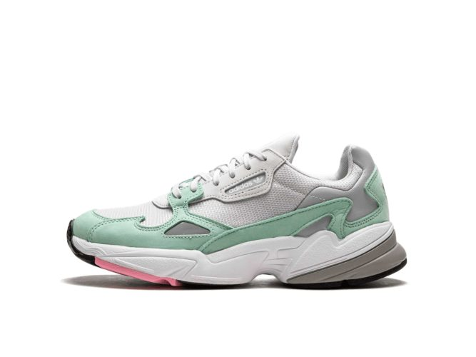 adidas falcon grey green b28127 купить