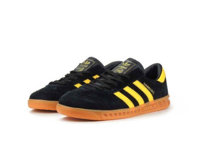 adidas hamburg black yellow s81452 купить