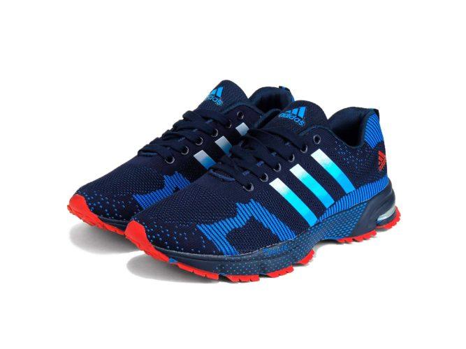 adidas marathon flyknit blue red g95045 купить