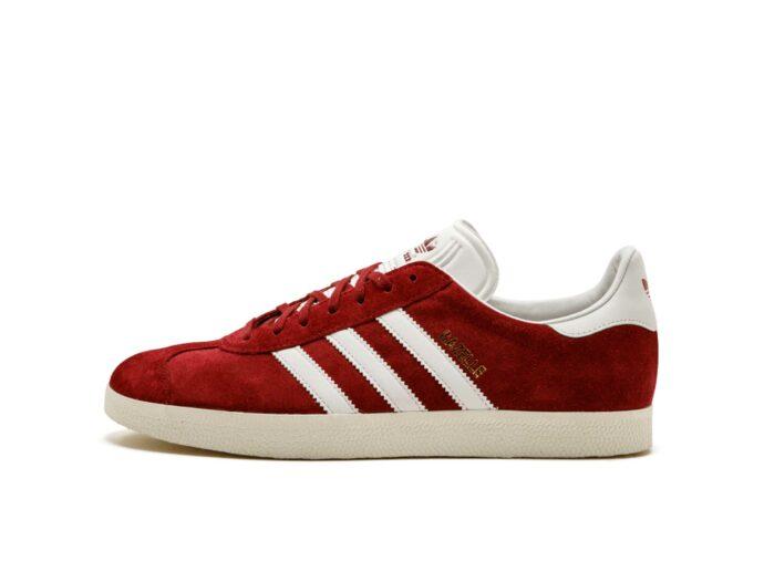 adidas gazelle red white sole s76220 купить