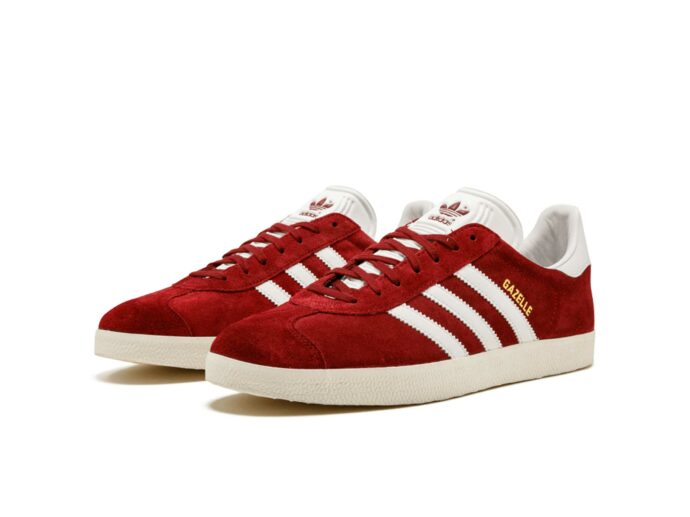 adidas gazelle red white sole s76220 купить