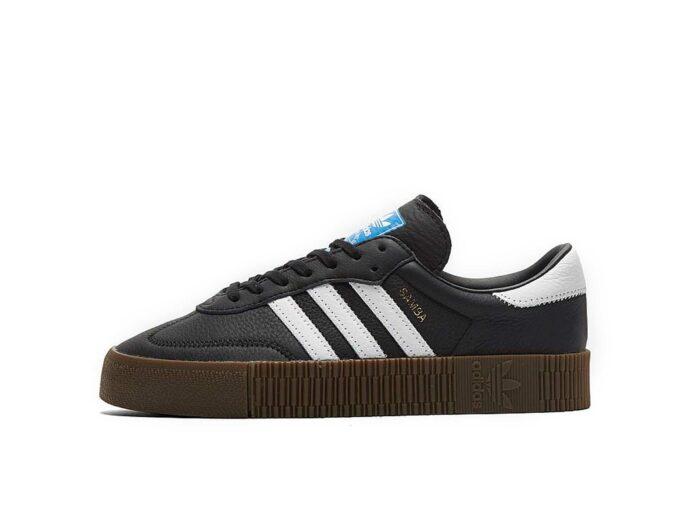 adidas samba black white купить