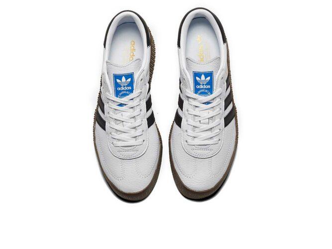 adidas samba white black купить