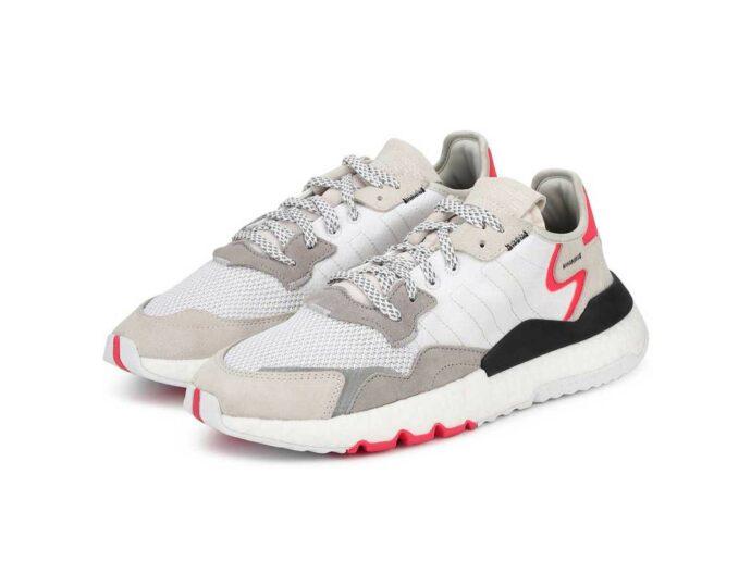 adidas nite jogger red white f34123 купить