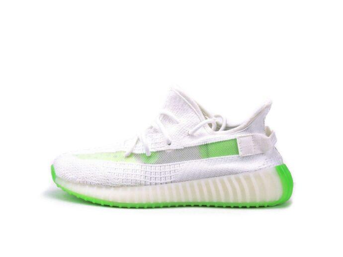 adidas yeezy boost 350 v2 white green blanc ef2369 купить