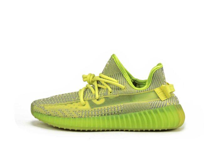 adidas yeezy boost 350 V2 yellow lime ef2243 купить