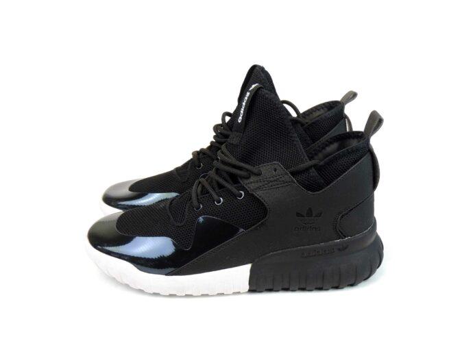 adidas tubular x primeknit black white купить
