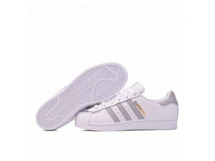 adidas superstar white grey BA7666 купить